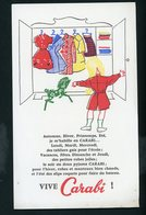BUVARD:  VETEMENT CARABI - FORMAT  13,5X21 Cm - Buvards, Protège-cahiers Illustrés
