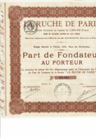 75-RUCHE DE PARIS. 104 Rue De Richelieu. - Actions & Titres