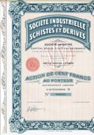 75-SCHISTES ET DERIVES. Sté Industrielle Des...Action B - Shareholdings