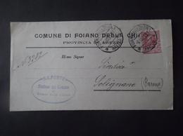 REGNO ITALIA BIGLIETTI CON OVALE DI FRANCHIGIA FOIANO DELLA CHIANA REGIE POSTE 1917 - Franchigia