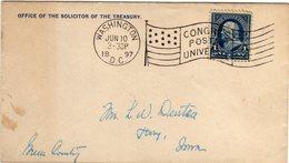 United States 1897 UPU Universal Postal Congress Washington Cancel Flag Drapeau - UPU (Unione Postale Universale)