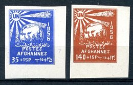 Afghanistan, 1956, United Nations Day, MNH Imperforated, Michel 438-439B - Afghanistan