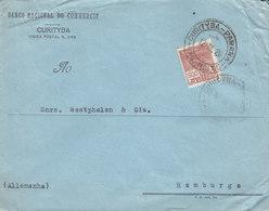 Brazil BANCO NACIONAL DO COMMERCIO, CURITYBA 1928 Cover Letra HAMBURG Germany - Brasil