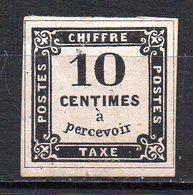 Col11   France Taxe  N° 1 Avec Liseret (Faux)  Cote 7500,00 Euros - Taxes