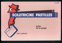BUVARD:  PASTILLES SOLUTRICINE - FORMAT  13,5X21 Cm - Chemist's