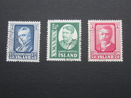 ISLAND , 293 / 295 , Hafstein, Satz Komplett, Gestempelt - 1944-... Republic