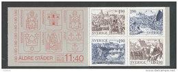 SUEDE 1984 - CARNET  YT C1274 - Facit H354 - Neuf ** MNH - Anciennes Villes De Suède - Booklets