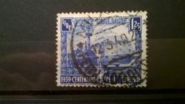 FRANCOBOLLI STAMPS ITALIA ITALY REGNO 1939 USED SERIE CENTENARIO FERROVIE ITALIANE SASSONE 451 - Oblitérés