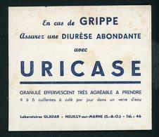 BUVARD:  URICASE - FORMAT  10,5X12 Cm - Chemist's