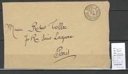 France- Lettre - FM Avec Cachet Bureau Frontiere F - 1916 - Marcophilie (Lettres)