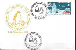 TAAF Exposition De Philatélie Polaire Du   02 11 1976 à Douai - Events & Commemorations