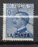 LA CANEA ( POSTE ) : Y&T  N°  17  TIMBRE  BIEN  OBLITERE . - 11. Oficina De Extranjeros