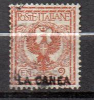LA CANEA ( POSTE ) : Y&T  N°  2  TIMBRE  BIEN  OBLITERE . - 11. Oficina De Extranjeros