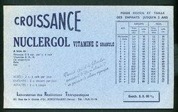 BUVARD:  CROISSANCE NUCLERGOL - FORMAT  12X20,5 Cm - Chemist's