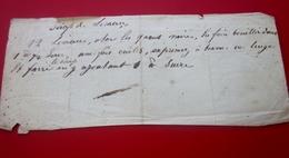- 1854 Ordonnance Recette Document Médical Manuscrit-Médecine-Pharmacie-Maladie-Remèdes Miracle-Médicament-Soin-Guérison - Manuscrits