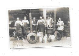 Carte Photo  Ouvriers Agricoles Au Travail, - Paysans
