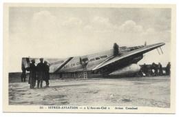 """13-ISTRES-AVIATION- """"L'ARC-EN-CIEL"""" - Avion Couzinet... Animé - 1919-1938: Entre Guerres"""