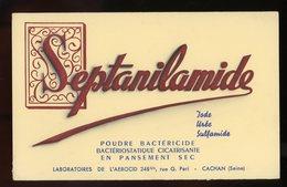 BUVARD:  POUDRE SEPTANILAMIDE - FORMAT  13,5X21 Cm - Chemist's
