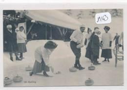 CPA -19163 - Suisse -  Chesières ( à Confirmer) - Curling ( Rare Animation ) - 2 Scans- -Envoi Gratuit - VD Vaud