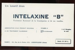 "BUVARD:  LAXATIF INTELAXINE ""B"" - FORMAT 12X20,5 Cm - Chemist's"