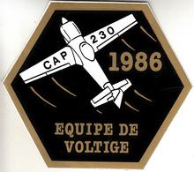 Thematiques Aviation Autocollant Sticker CAP 230 Equipe De Voltige 1986 - Stickers