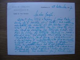 Decembre 1927 Correspondance DANJEAN Place De Casablanca CABINET SOUS INTENDANCE - Cartes De Visite