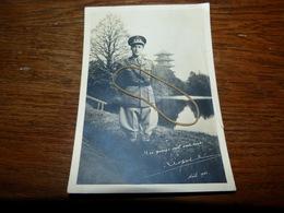 S.M. Le Roi Léopold III Noël 1941 - Signature Du Roi Carte Photo - Guerre 1939-45