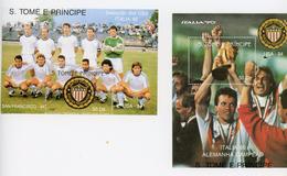 Sao Tome-1990-Italie 90-Vainqueur L'Allemagne-MI B234/5***MNH - Coupe Du Monde