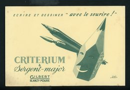 BUVARD:  CRITERIUM GIBERT - FORMAT 14X21 Cm - Stationeries (flat Articles)