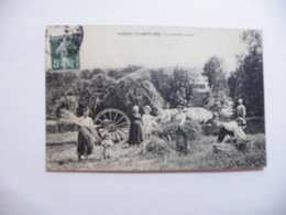 A464. CPA. SCENES CHAMPETRES. La Rentrée Du Blé. Envoyée Du Puy-de-Dome   Beau Plan Animé. écrite & Voyagée 1909 - Cultures
