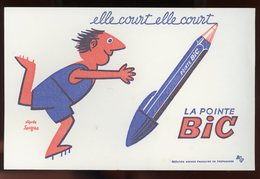 BUVARD:  LA POINTE BIC - FORMAT 13,5X21 Cm - Stationeries (flat Articles)