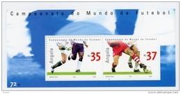 Angola 2002-Coupe De Football En Corée Du Sud-YT 1521/22+B100***MNH - Coupe Du Monde
