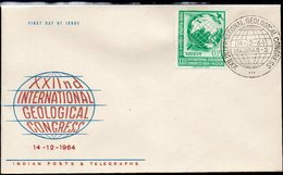INDIA, 1964 GEOLOGICAL CONGRESS FDC - Covers & Documents