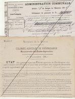 1885 Leval Trahegnies - Binche Liste D'indigent - Mandat Colonie Agricole Blairon Hoyaux - Hoogstraeten - Documents Historiques