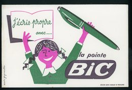 BUVARD:  LA POINTE BIC - FORMAT 13,5X21 Cm - Papeterie