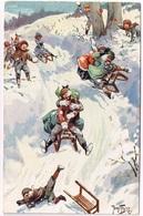 KINDER-SCHLITTENFAHRT 1911 - Arthur Thiele - T.S.N. Serie 1088 - Thiele, Arthur