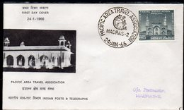 INDIA, 1966 TRAVEL ASSOCIATION FDC - Covers & Documents