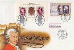 Germany / Austria Mozart Sheetlets On Jumbo FDC - Music