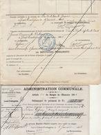 1885 Leval Trahegnies - Binche Liste Asile D'aliénés à Mons Avant Pottiaux Domicile De Secours - Documents Historiques