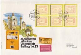 Austria Machine Stamps Set On Used R Jumbo FDC - Music