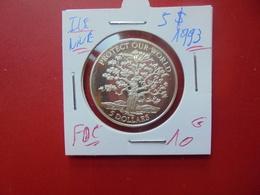 ILE NIUE 5$ ARGENT 1993 FDC/PROOF - Niue