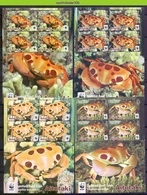 Nfa008MSb WWF FAUNA KRABBEN SCHAALDIER CRUSTACEAN CRAB KREBSTIERE MARINE LIFE AITUTAKI 2014 PF/MNH - W.W.F.