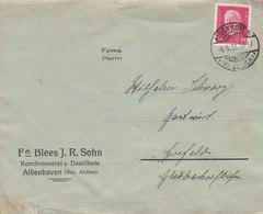 Germany Deutsche Reichspost Fch. BLEES J. R. SOHN Kornbrennerei U. Destillerie ALDENHOVEN (Kr. Julich) 1931 Cover Brief - Briefe U. Dokumente