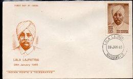 INDIA, 1965 LALA LAJPATRAI FDC - Covers & Documents