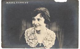 POSTAL   FOTOGRAFIA   DE LA ACTRIZ MADGE KENNEDY  NACIO EL 19 DE ABRIL 1891 (POSTAL CON ROTURA SUPERIOR DERECHA) - Fotos