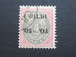 ISLAND , 4 Aur,, Nr. 25,  Gestempelt - Oblitérés