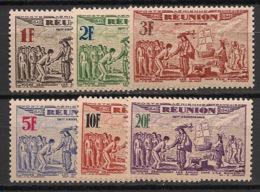 Réunion - 1943 - Poste Aérienne PA N°Yv. 18 à 23 - Série Complète - Neuf Luxe ** / MNH / Postfrisch - Réunion (1852-1975)