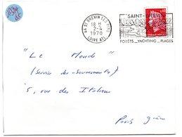 LOIRE ATLANTIQUE - Dépt N° 44 = St BREVIN Les PINS 1970 = FLAMME SECAP  Illustrée ' FORETS YACHTING PLAGES ' - Postmark Collection (Covers)