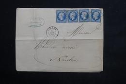 FRANCE - Enveloppe De Cerdon Pour Nantua En 1860 , Affranchissement 4 Napoléons - L 23124 - Marcophilie (Lettres)