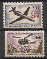 Réunion - 1957-58 - Poste Aérienne PA N°Yv. 56 Et 57 - Caravelle / Alouette - Neuf Luxe ** / MNH / Postfrisch - Réunion (1852-1975)